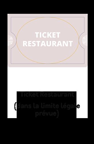 règlement par ticket restaurant ou chèque déjeuner