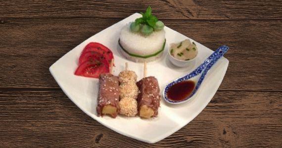 Brochettes de bœuf au fromage et poulet façon Japonaises